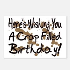 Crap Filled Birthday Postcards (Package of 8)