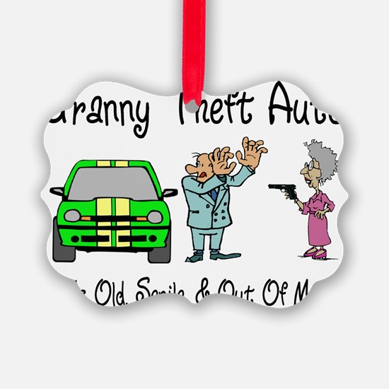 Granny Theft Auto Ornament