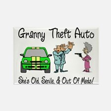 Granny Theft Auto Rectangle Magnet
