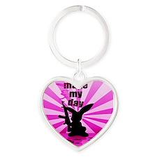 Make My Day Heart Keychain