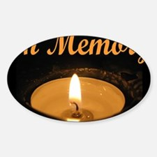 In Memory Banner Wide Decal