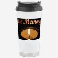 In Memory Banner Wide Stainless Steel Travel Mug