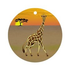 Giraffe Ornament (Round)