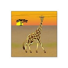 "Giraffe Square Sticker 3"" x 3"""