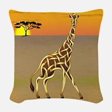 Giraffe Woven Throw Pillow