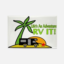 RV Adventure New Rectangle Magnet