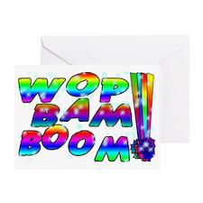 Wop Bam Boom Stars Greeting Card