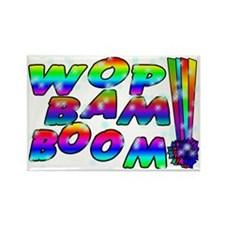 Wop Bam Boom Stars Rectangle Magnet