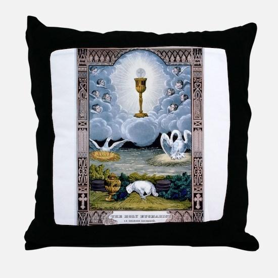 The holy eucharist - 1848 Throw Pillow