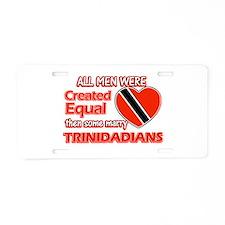 Trinidadian Wife Designs Aluminum License Plate
