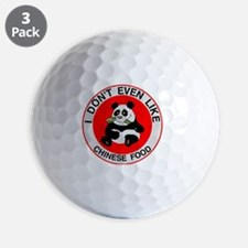 Pandas Hate Chinese Food Golf Ball