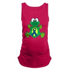 blue ribbon froggy copy.png Maternity Tank Top