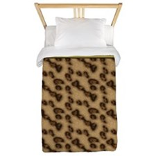 Cheetah  Gold Floral OrnatePAD SLEEVE Twin Duvet