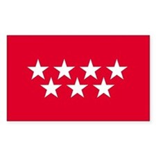 Madrid Flag Rectangle Decal