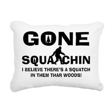 Gone Squatchin Bigfoot I Rectangular Canvas Pillow