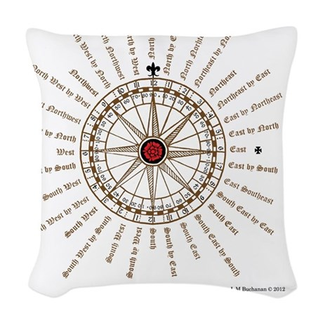 #V-62 Compose square Woven Throw Pillow