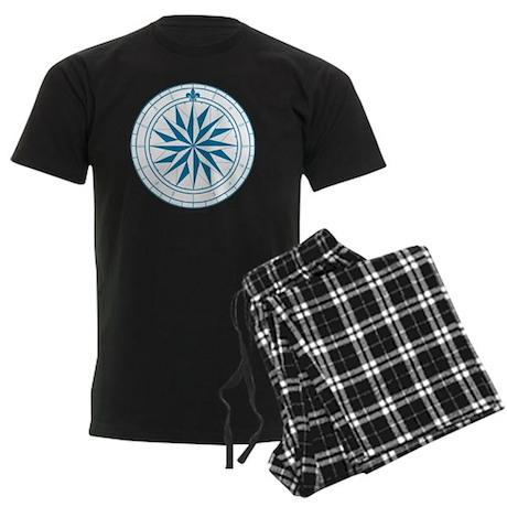 V-#68 square Men's Dark Pajamas