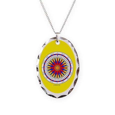 #V-117 ORN O copy Necklace Oval Charm