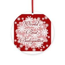 World's Best Babysitter Ornament (Round)