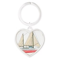 #61 square Heart Keychain