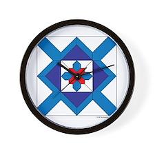 Quilt Design V-143 square w edge Wall Clock