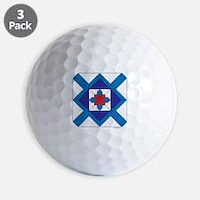 Quilt Design V-143 square w edge Golf Ball