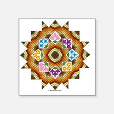 "#V-137 ORN R copy Square Sticker 3"" x 3"""