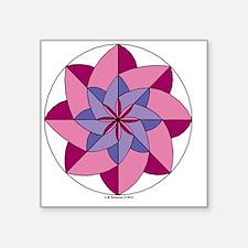 "#V- 147 ORN R copy Square Sticker 3"" x 3"""