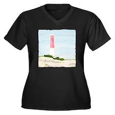 #8 square w  Women's Plus Size Dark V-Neck T-Shirt