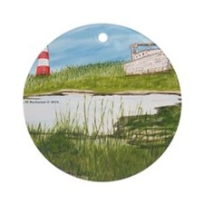 #21 Mouse Pad Round Ornament