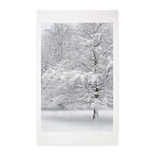 Snowy Tree Art 3'x5' Area Rug