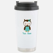Personalized Owl Travel Mug