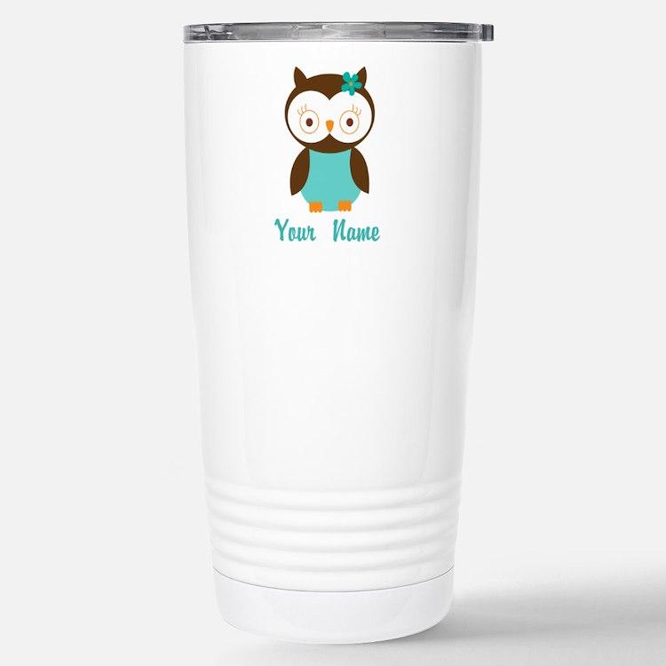 Personalized Owl Travel Mug