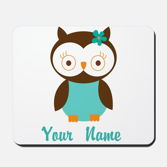 Personalized Owl Mousepad