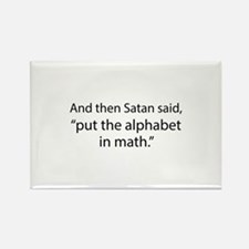 Put The Alphabet In Math Rectangle Magnet