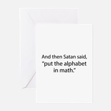 Put The Alphabet In Math Greeting Cards (Pk of 10)