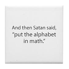 Put The Alphabet In Math Tile Coaster