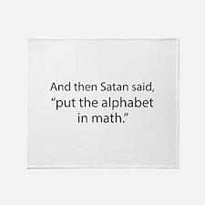Put The Alphabet In Math Stadium Blanket