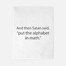 Put The Alphabet In Math Twin Duvet
