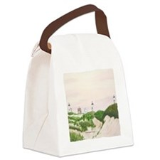 #20 square w edge Canvas Lunch Bag