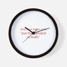 Put The Alphabet In Math Wall Clock