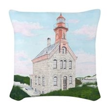 #49 square Woven Throw Pillow
