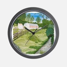 #5 square w edge Wall Clock