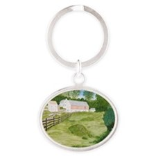 #5 square Oval Keychain