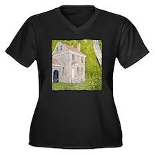 #23 square w Women's Plus Size Dark V-Neck T-Shirt