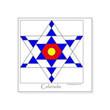"""Colorado square Square Sticker 3"""" x 3"""""""
