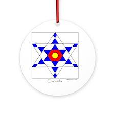 Colorado square Round Ornament