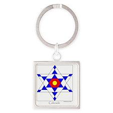 Colorado square Square Keychain