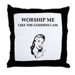 goddess gifts and t-shirts Throw Pillow