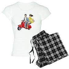 Vespa Girl With Italian Man Pajamas